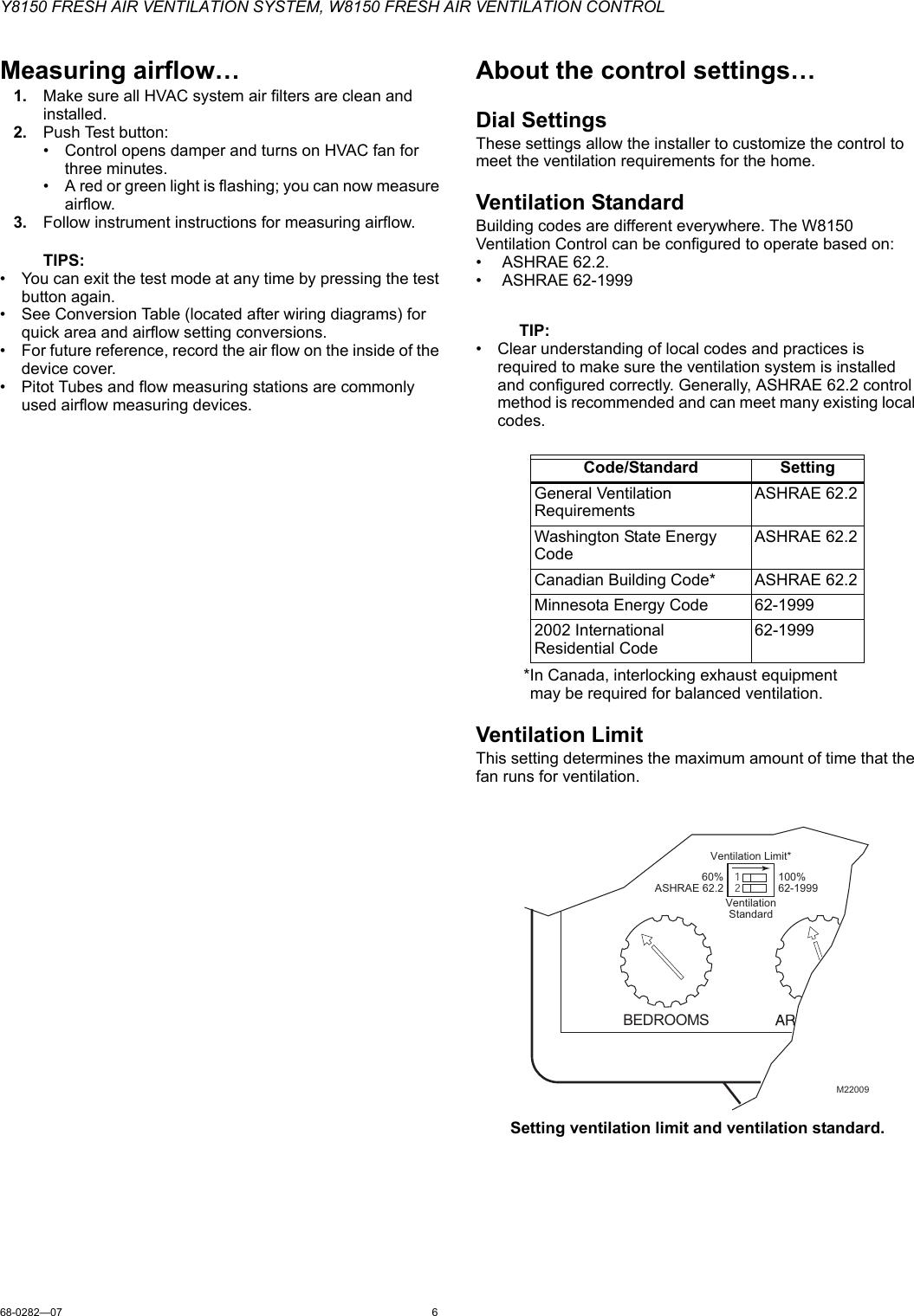 Honeywell fresh air ventilation control manual
