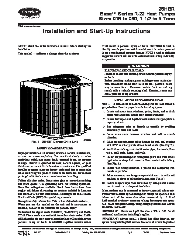 carrier air conditioner repair manual