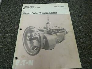 eaton fuller 13 speed transmission rebuild manual