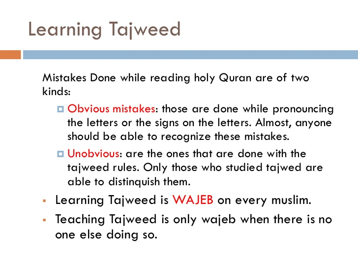 Tjweed rules in englsih and arabic pdf