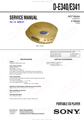 sony cd walkman d-ej011 cd player instructions