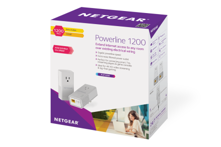netgear powerline 1200 extra outlet manual