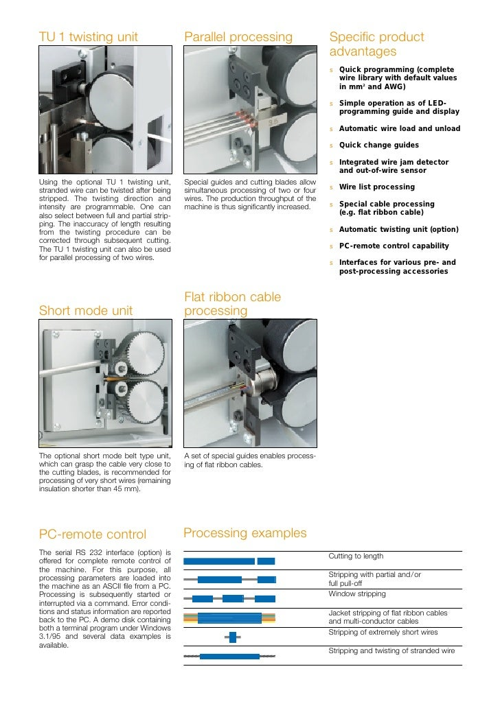 Schleuniger ecostrip 9320 user manual