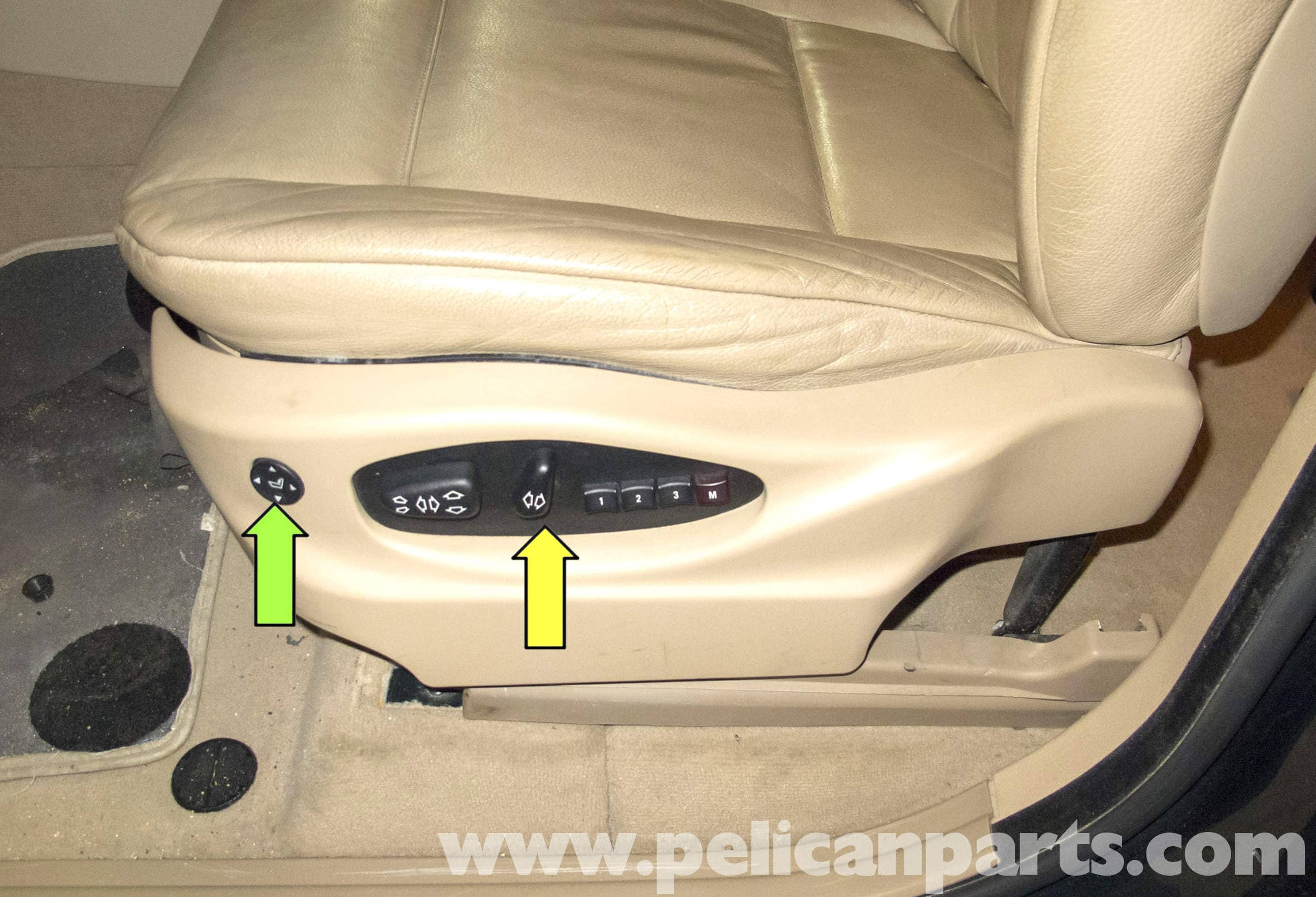 how to manually move a power seat bmw