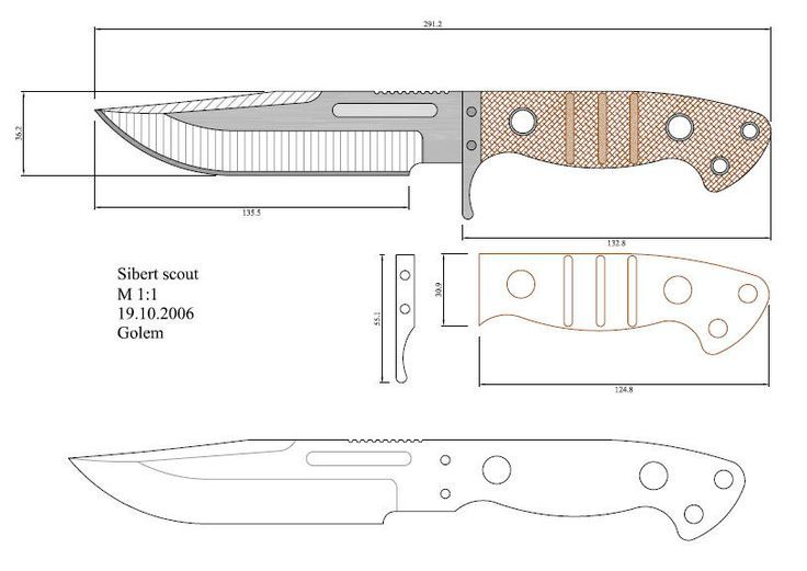 Plantillas para hacer cuchillos pdf