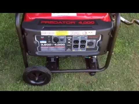 Predator 4000 watt generator manual