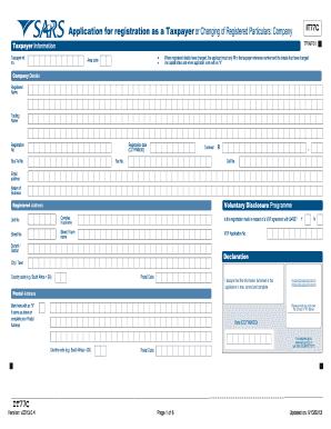 Sars company income tax registration form