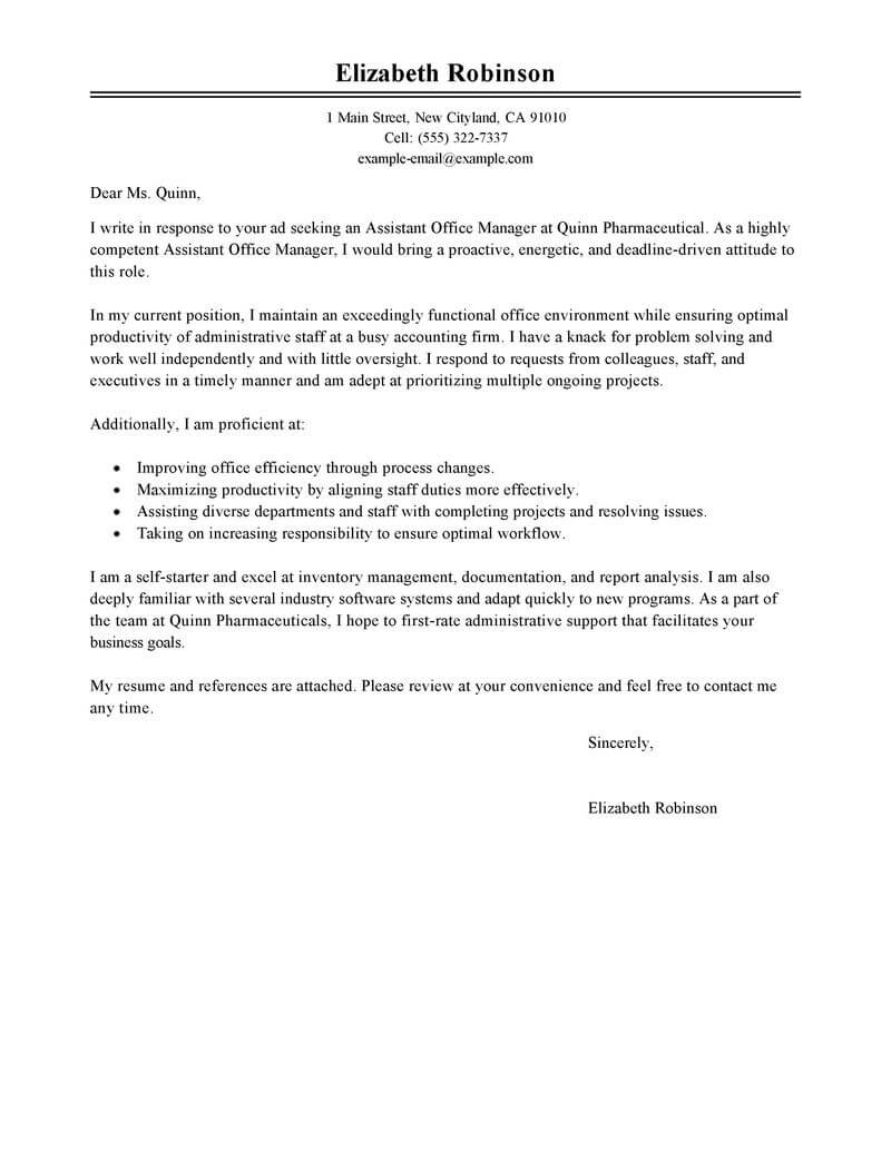 Sample cover letter for finance and administration officer pdf