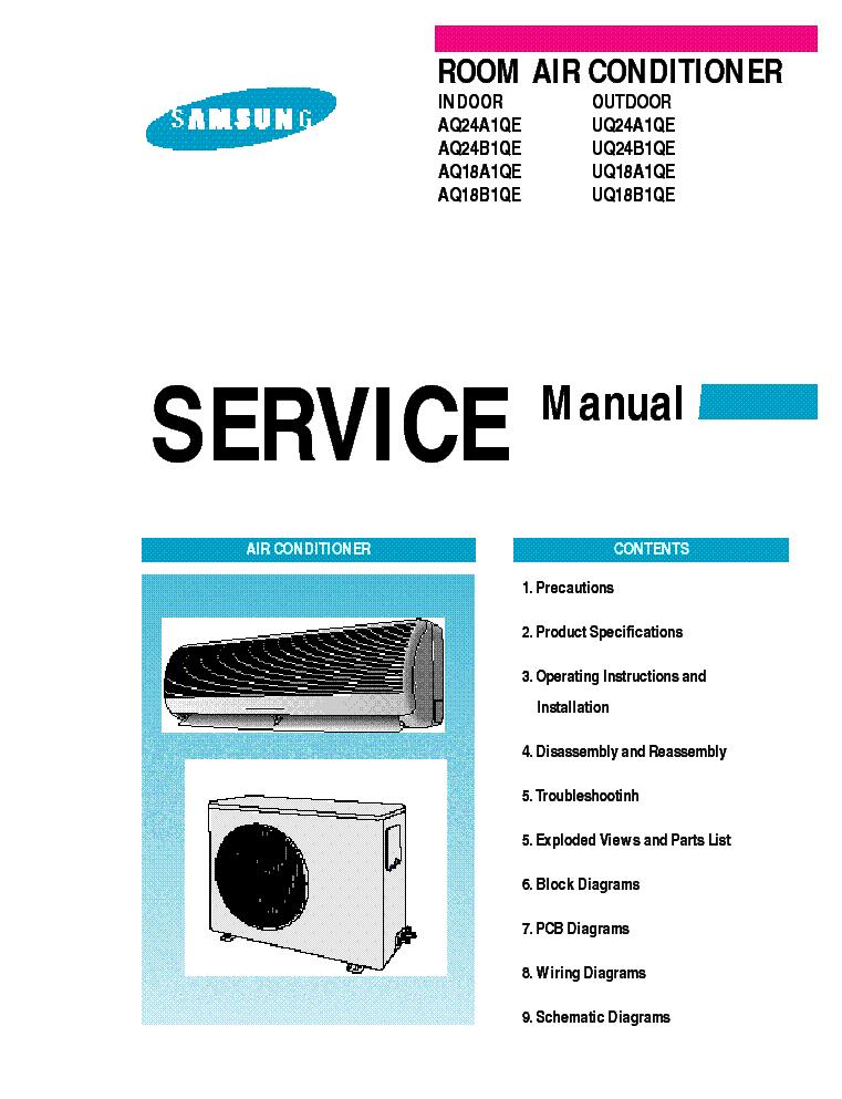 samsung air conditioner manual aq24b1qe