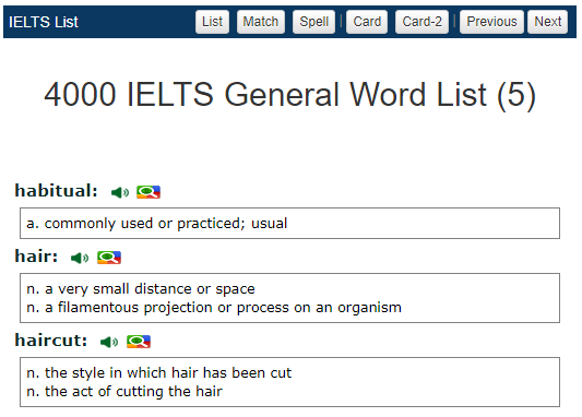 Ielts academic vocabulary words with meaning pdf