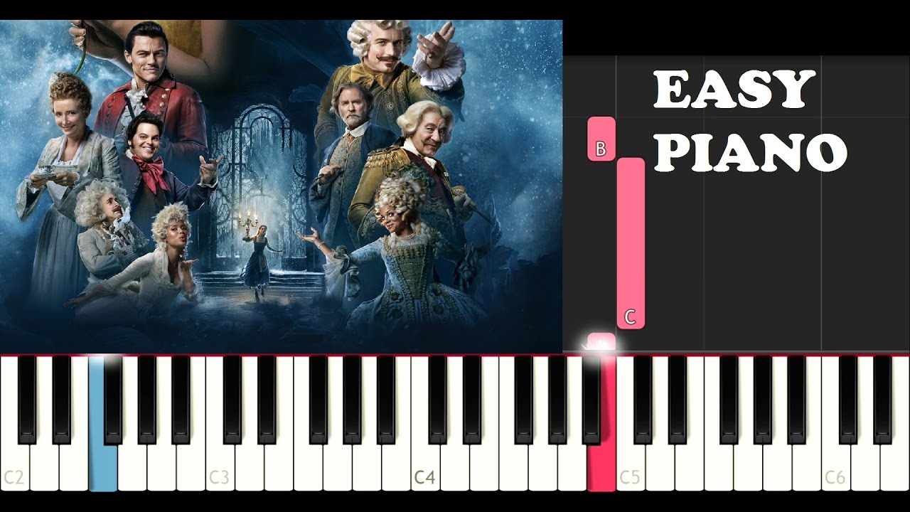 Beauty and the beast piano tutorial