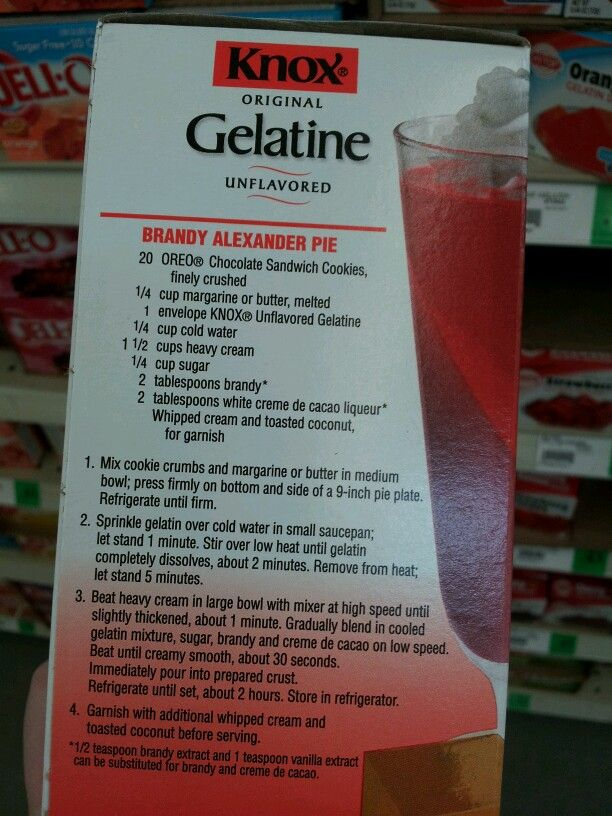 knox unflavored gelatin instructions