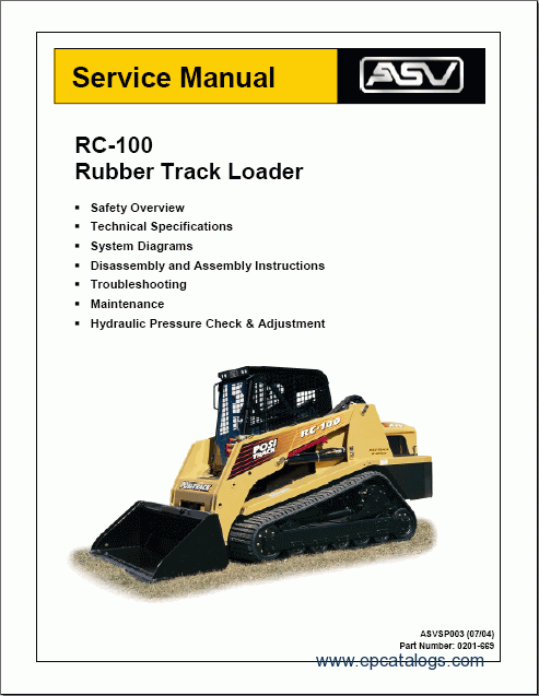 asv rc 60 service manual