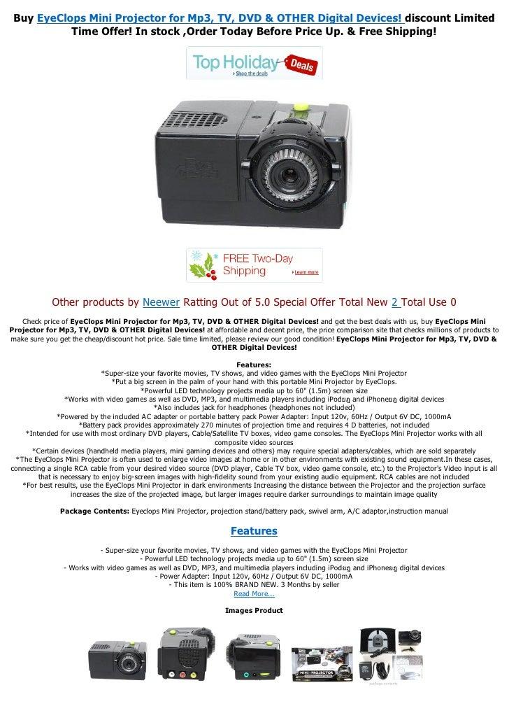 Eyeclops mini projector manual pdf