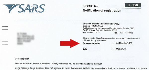 Sars company income tax registration form