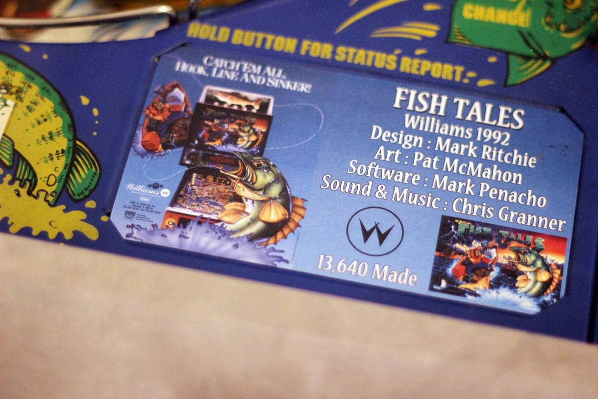 fish tales pinball instruction cards