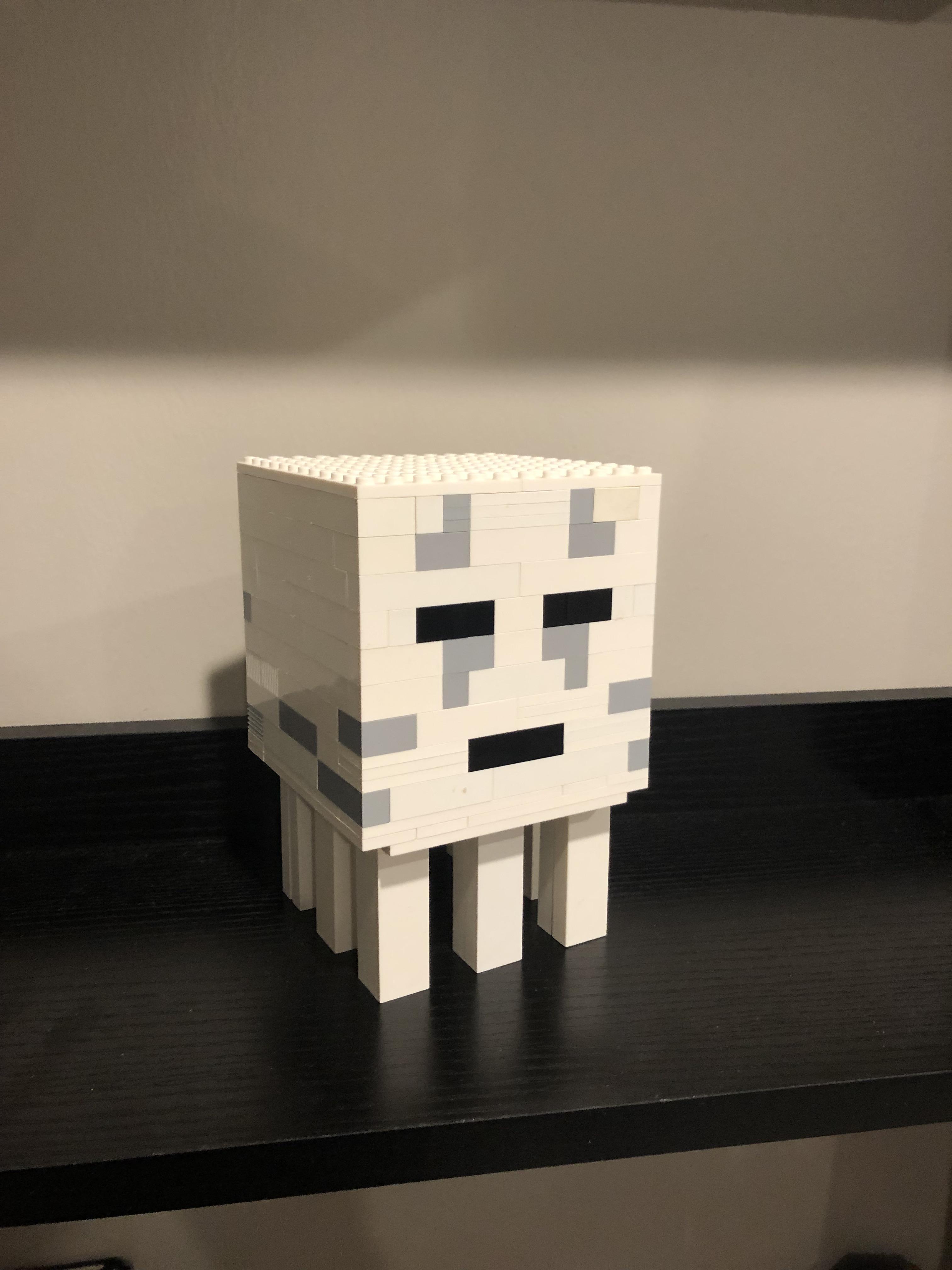 lego minecraft ghast instructions
