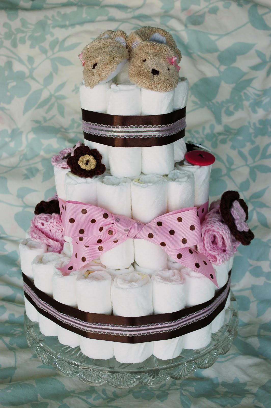 mini diaper cake centerpieces instructions