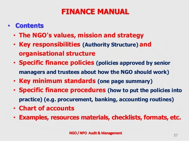 ngo policies and procedures manual