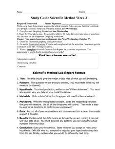 Scientific method worksheet pdf answer key