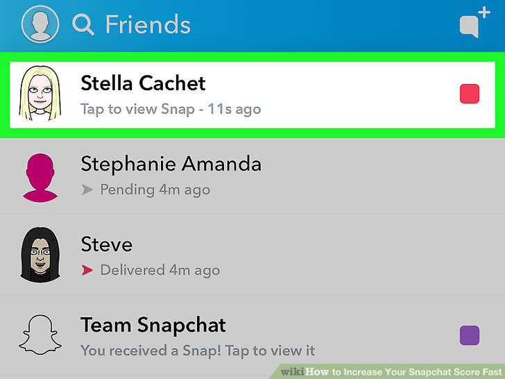 Snapchat score how to get more fast