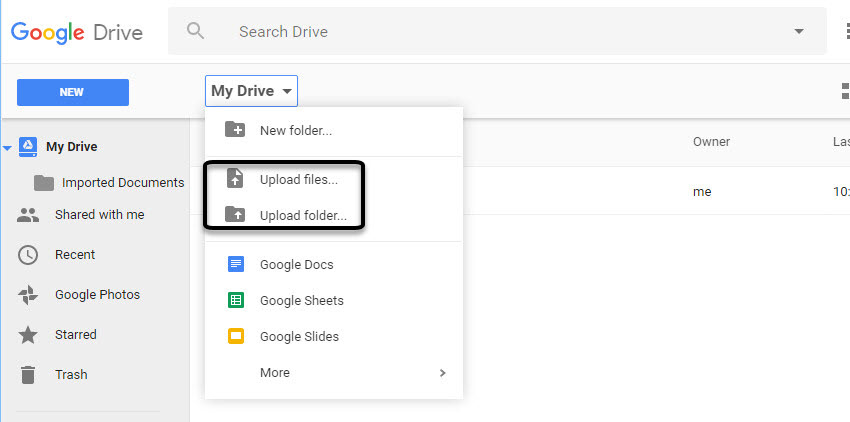Upload document in google form